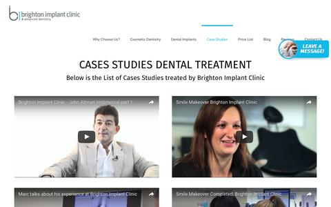 Screenshot of Case Studies Page brightonimplantclinic.co.uk - Case Studies - Dental Implants | Dental Implants - captured July 30, 2016