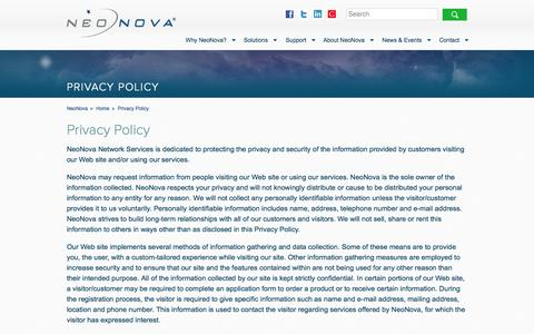 Screenshot of Privacy Page neonova.net - Privacy Policy - captured Oct. 22, 2014