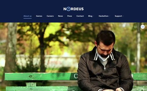 Screenshot of Home Page nordeus.com - Nordeus - Home - captured Nov. 19, 2015