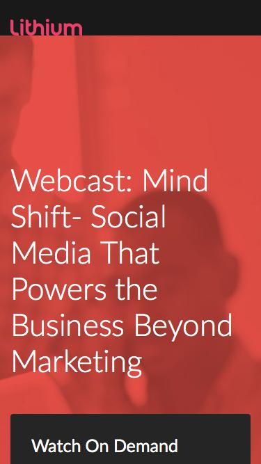Mind Shift- Social Media That Powers the Business Beyond Marketing