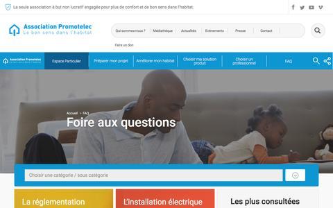 Screenshot of FAQ Page promotelec.com - FAQ - captured May 23, 2017