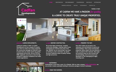 Screenshot of Home Page builders-in-bath.com - Builders in Bath, Wiltshire | Building company based in Bath, Wiltshire | Cadfan Developments - captured Oct. 1, 2014