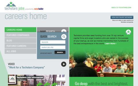 Screenshot of Jobs Page techstars.com - Techstars - captured Sept. 13, 2014