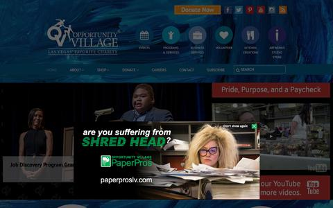 Screenshot of Home Page opportunityvillage.org - Las Vegas' Favorite Charity   Opportunity Village - captured June 18, 2017