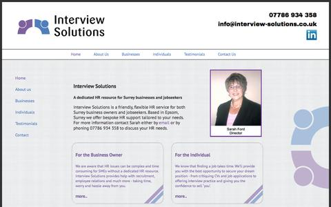 Screenshot of Home Page interview-solutions.co.uk - Interview Solutions - captured Sept. 30, 2014