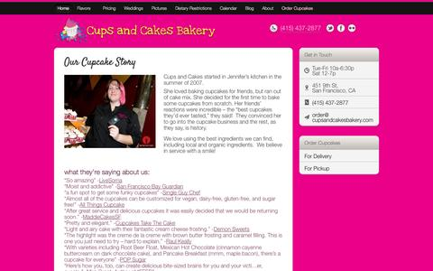 Screenshot of About Page cupsandcakesbakery.com - Our Cupcake Story | Cups and Cakes BakeryCups and Cakes Bakery - captured Sept. 30, 2014