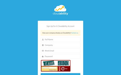 Sign Up | Cloudability