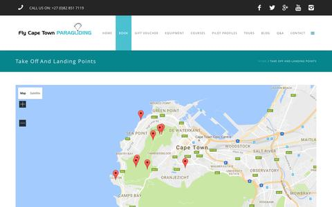 Screenshot of Maps & Directions Page flycapetown.co.za - Take Off and Landing Points Map | Fly Cape Town - captured Nov. 25, 2016