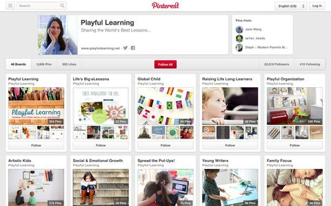 Screenshot of Pinterest Page pinterest.com - Playful Learning on Pinterest - captured Oct. 22, 2014