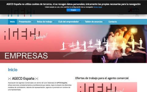Screenshot of Home Page ageco.pro - AGECO España - Inicio - captured Nov. 12, 2018