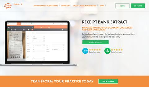 Screenshot of Products Page receipt-bank.com - Receipt Bank | Award-Winning Accounting & Bookkeeping Automation Software - captured Oct. 5, 2017