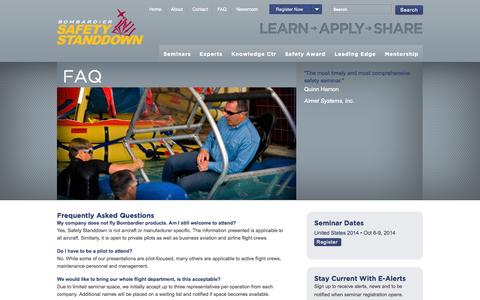 Screenshot of FAQ Page safetystanddown.com - FAQ: Frequently Asked Questions  | Safety Standdown - captured Oct. 5, 2014