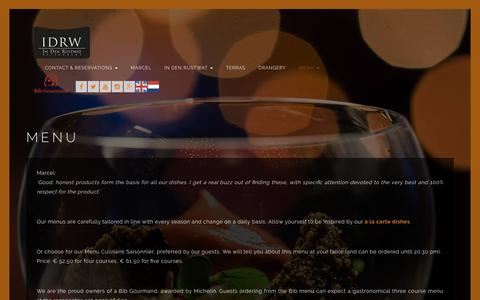 Screenshot of Menu Page idrw.nl - IDRW   MENU - IDRW - captured July 1, 2017