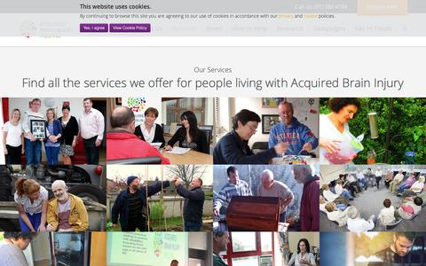 Screenshot of Services Page abiireland.ie - Services - Acquired Brain Injury Ireland - captured Oct. 3, 2018