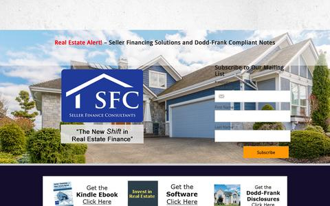 Screenshot of Contact Page Services Page Press Page sellerfinanceconsultants.com - Seller Finance Consultants | Real Estate Financing Solutions - captured Sept. 24, 2015