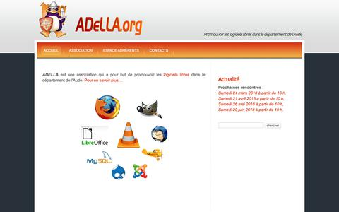 Screenshot of Home Page adella.org - Accueil   Adella - captured March 19, 2018