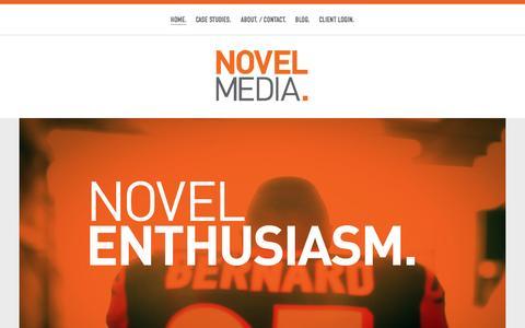 Screenshot of Home Page getnovel.com - Novel Media - captured Oct. 6, 2014