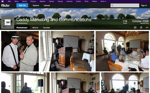 Screenshot of Flickr Page flickr.com - Flickr: CaddyMarketing's Photostream - captured Oct. 22, 2014