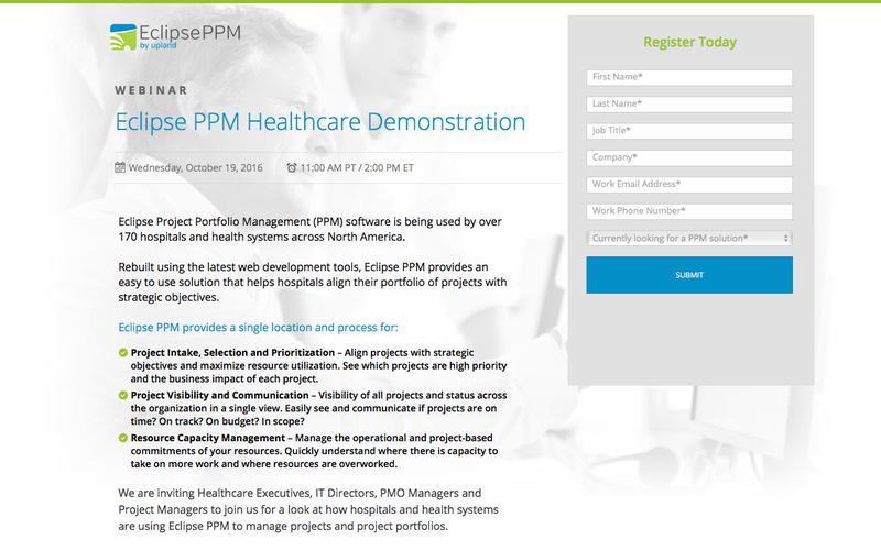 Eclipse PPM Webinar: Product Demonstration