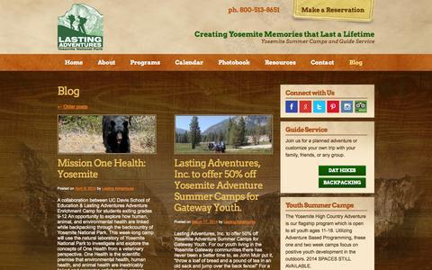Screenshot of Blog lastingadventures.com - Blog Archives - Lasting Adventures - captured Sept. 29, 2014