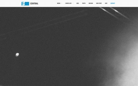 Screenshot of Contact Page centralcc.ca - Contact |  Central Community Church – St. Catharines, Niagara Falls, Downtown St. Catharines - captured Oct. 2, 2014