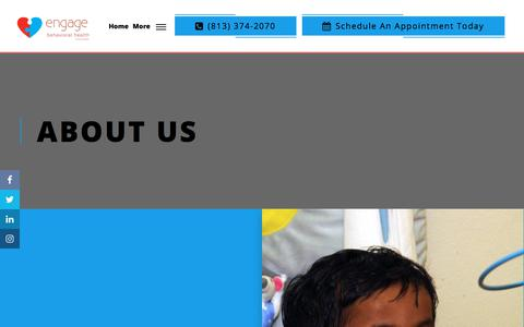 Screenshot of About Page engagebehavioralhealth.com - About Us - Engage Behavioral Health - captured Dec. 4, 2019