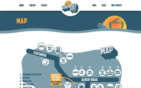 Screenshot of Maps & Directions Page southseafest.com - Map - Southsea Fest 2016 - captured Dec. 18, 2016