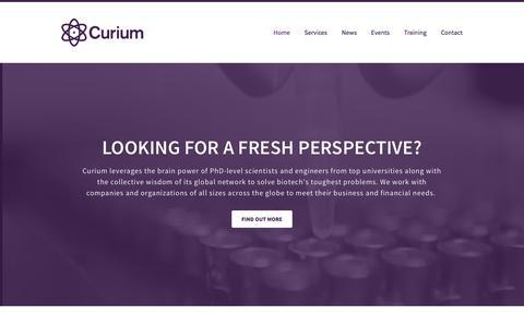 Screenshot of Home Page curiumco.com - Curium - captured Feb. 2, 2016