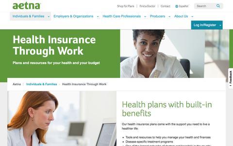 Health Insurance Through Work | Aetna