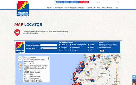 Screenshot of Maps & Directions Page medco.com.lb - MEDCO - captured Oct. 27, 2014