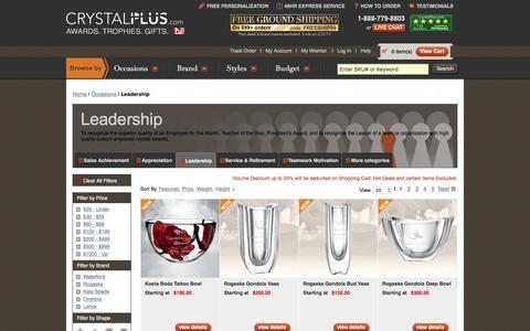Screenshot of Team Page crystalplus.com - Personalized Leadership Crystal Awards | CrystalPlus.com - captured May 23, 2017