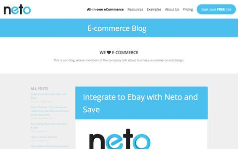 Screenshot of Blog neto.com.au - E-commerce Blog - captured Oct. 26, 2014