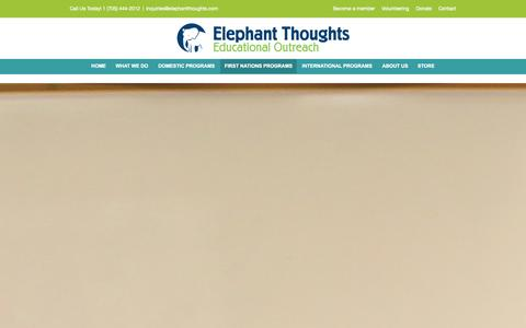 Screenshot of Testimonials Page elephantthoughts.com - Elephant Thoughts   –  First Nations Programs - captured Sept. 29, 2014