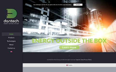 Screenshot of Home Page danenergy.com - Energy outside the box – Energy outside the box - captured Oct. 7, 2018