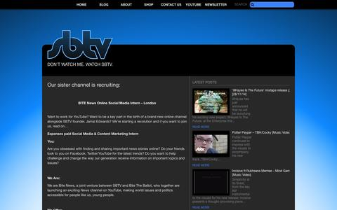 Screenshot of Jobs Page sbtv.co.uk - Careers – SB.TV – The UK's leading online youth broadcaster. - captured Sept. 19, 2014