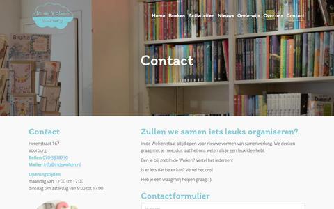 Screenshot of Contact Page indewolken.nl - Contact | In de Wolken - captured Oct. 15, 2018