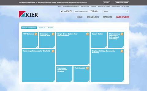 Screenshot of Case Studies Page kier.co.uk - Kier Group - Feature Case Studies - captured Sept. 23, 2014