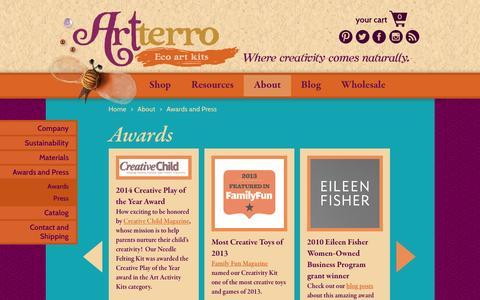 Screenshot of Press Page artterro.com - Artterro Awards, Reviews and Press | Artterro - captured Dec. 26, 2015