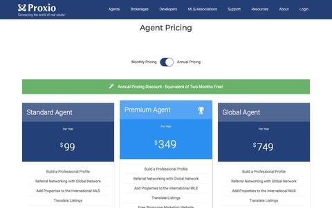 Screenshot of Pricing Page proxio.com - Pricing - Proxio - captured May 9, 2017