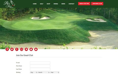 Screenshot of Signup Page redtailgolf.net - Contact - captured April 26, 2017