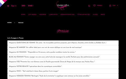 Screenshot of Press Page voulez-vous-paris.com - - Voulez-Vous... - captured Oct. 18, 2018