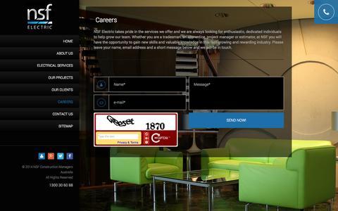 Screenshot of Jobs Page nsfelectric.com - Careers - captured Oct. 7, 2014