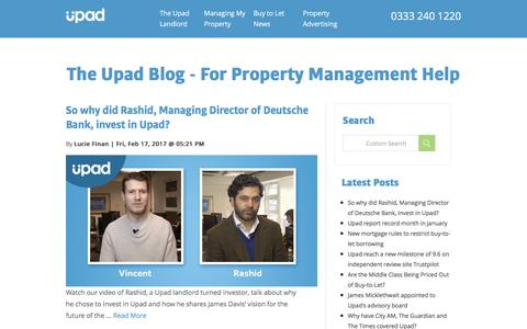 The Upad Blog - For Property Management Help