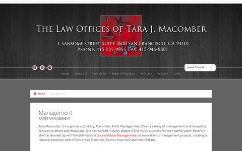 Screenshot of Team Page tmacomberlaw.com - Management | T. Macomber Law - captured Oct. 2, 2014