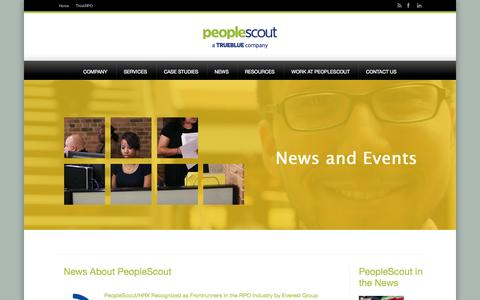 Screenshot of Press Page peoplescout.com - PeopleScout News   PeopleScout - captured Sept. 29, 2014
