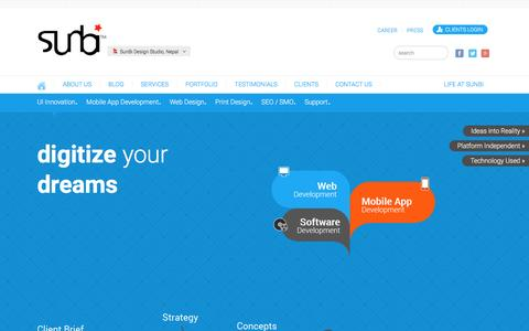 Screenshot of Services Page thesunbi.com - SunBi | Services - UI Innovation - captured March 4, 2016
