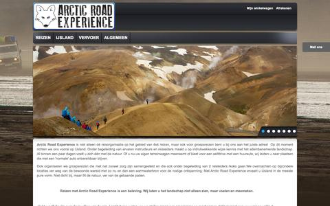 Screenshot of Home Page Privacy Page arcticroadexperience.com - Home page - captured Sept. 30, 2014