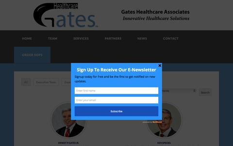 Screenshot of Team Page gateshealthcareassociates.com - Team - Gates Healthcare Associates - captured July 17, 2017