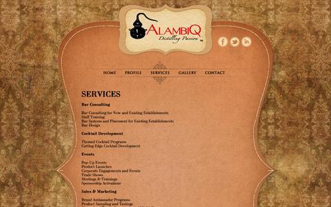 Screenshot of Services Page alambiq.com - Services | AlambiQ - captured Oct. 4, 2014
