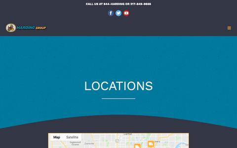 Screenshot of Locations Page hardinggroup.com - Locations - Harding Group - captured Nov. 12, 2018